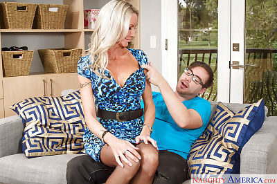 Big-tit mom Emma Starr gives..