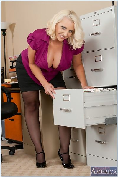 Sexy office mom Mandy Sweet..