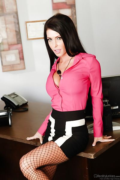 Fully clothed secretary..