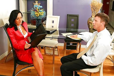 Slutty office lady gets her..