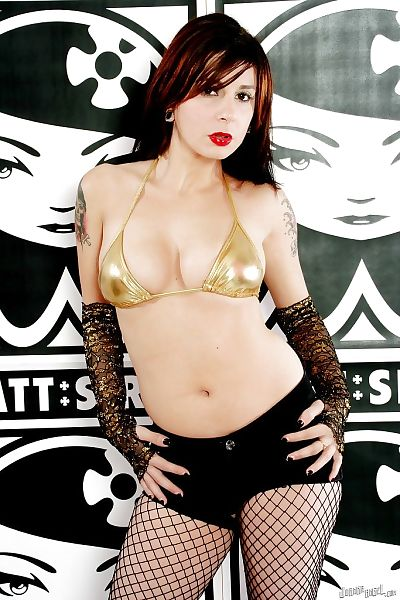Joanna Angel posing in..