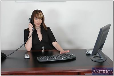 Raunchy office secretary in..