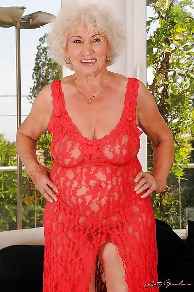 Naughty granny with massive..