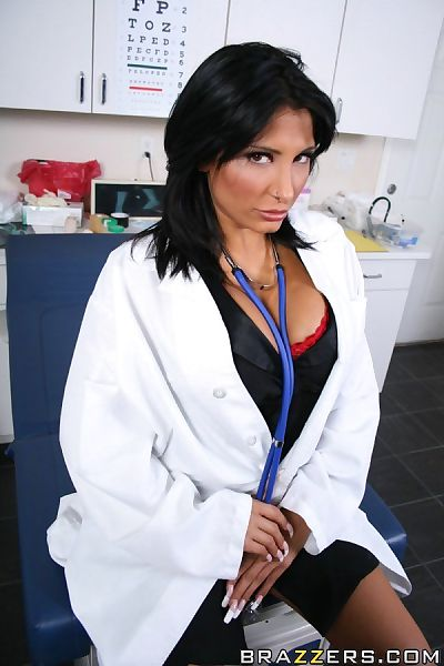Sexy doctor with big tits..